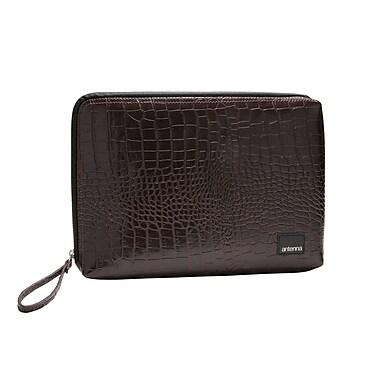 Antenna Classic Croc Matte Laptop Sleeve for Macbook; Dark Brown