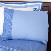 One Grace Place Simplicity Pillowcase; Blue