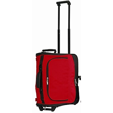 Preferred Nation 18'' Compact 2-Wheeled Travel Duffel; Red