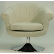 Fox Hill Trading Overman Disc Base Lounge Chair; Oatmeal