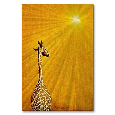 All My Walls 'Giraffe Looking Back' by Jerome Stumphauzer Graphic Art Plaque