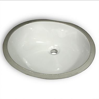 Nantucket Sinks Great Point Oval Glazed Ceramic Bathroom Sink