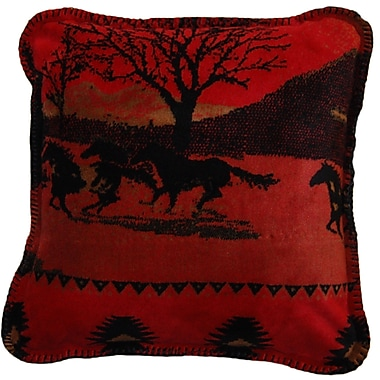 Denali Running Horses Throw Pillow