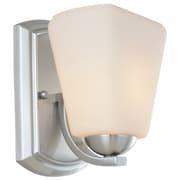 Dolan Designs Hammond 1 Light Wall Sconce; Satin Nickel