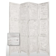 Screen Gems 84'' x 76'' Nantucket Painted 4 Panel Room Divider; White