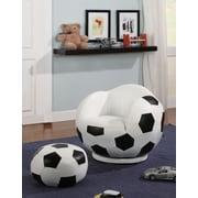 Wildon Home   Soccer Ball Kids Novelty Chair and Ottoman