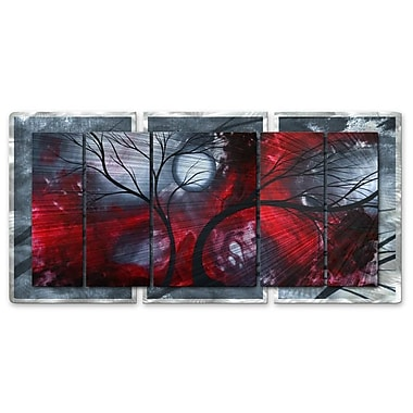 All My Walls 'Crimson Night II' by Megan Duncanson 5 Piece Graphic Art Plaque