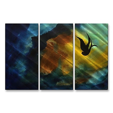 All My Walls 'Fall Breeze' by Megan Duncanson 3 Piece Graphic Art Plaque Set