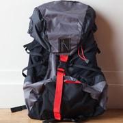 Backside Backsider Backpack; Gray / Black