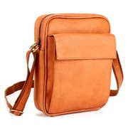 Le Donne Leather iPad/E-Reader Carry All Shoulder Bag; Tan