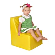 Foamnasium Straight Back Kids Novelty Chair; Yellow