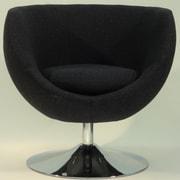 Fox Hill Trading Overman Disc Base Globus Chair; Black