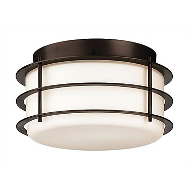 Philips Hollywood Hills 2 Light Flush Mount; Deep Bronze