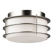 Philips Forecast Lighting Hollywood Hills 2 Light Outdoor Flush Mount; Metallic Silver