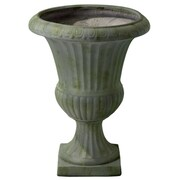 Home Loft Concepts Ulysses Round Urn Planter; Grey with Green Moss