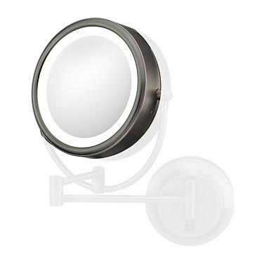 Kimball & Young Kimball & Young Lens 7x w/ Frame Rim Support Mirror; Italian Bronze