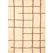 Abacasa Berber Off White/Chocolate Area Rug; 5' x 8'