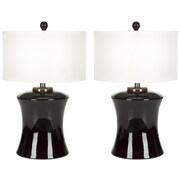 Safavieh Gary Ceramic 24'' H Table Lamp with Drum Shade (Set of 2)