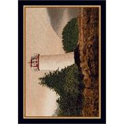 Milliken Fall Seasonal Brown/White Cape Lighthouse Area Rug; 3'10'' x 5'4''