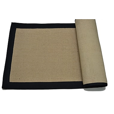 Imports Decor Black/Tan Border Area Rug; 4' x 6'