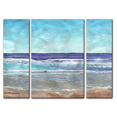 All My Walls 'Bright Surf' by Keith Wilke 3 Piece Painting Print Plaque Set