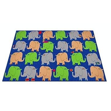 Kid Carpet Elephant Seating Classroom Area Rug; 6' x 8'6''