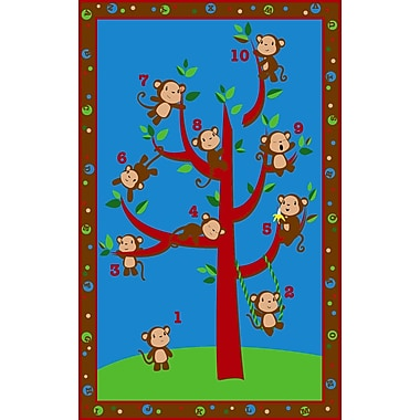 Kid Carpet Ten Little Monkeys Area Rug; 6' x 8'6''
