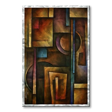 All My Walls 'The Future' by Michael Lang Graphic Art Plaque