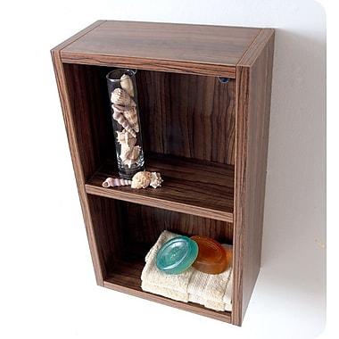Fresca 11.88'' W Bathroom Shelf; Walnut