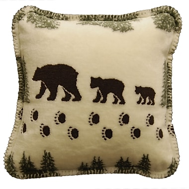 Denali Bear Throw Pillow