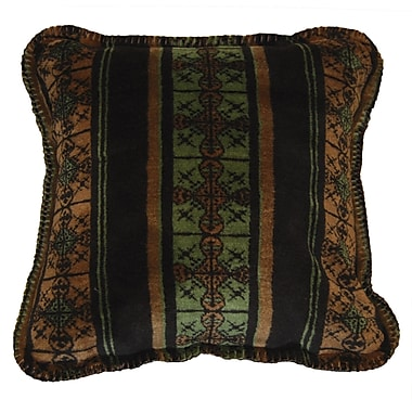 Denali Stripe Throw Pillow; Dark Chocolate