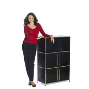 Infinita Corporation System4 Simpli 47.5'' Standard Bookcase; Black