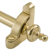Zoroufy Heritage 28.5'' Smooth Tubular Stair Rod Set Extended Brackets Urn Finial; Polished Brass