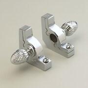 Zoroufy Sovereign 48'' Tubular Stair Rod Set with Smooth Brackets Pineapple Finials; Chrome