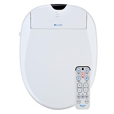 Brondell Swash 1000 Advanced Elongated Bidet Toilet Seat; White