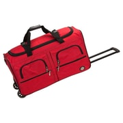Rockland 30'' 2-Wheeled Travel Duffel; Red