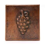 Premier Copper Products 4'' x 4'' Copper Grape Tile in Oil Rubbed Bronze