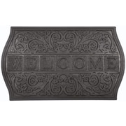 Entryways Recycled Rubber The Plaque - Welcome Doormat