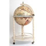 Old Modern Handicrafts Globe Drinks Cabinet Floor Stand-White