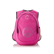 Obersee Kids All in One Preschool Bling Rhinestone Peace Cooler Backpack