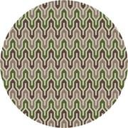 Jill Rosenwald Rugs Fallon Spruce Hand-Woven Green Area Rug; Round 8'