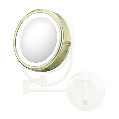 Kimball & Young Kimball & Young Lens 7x w/ Frame Rim Support Mirror; Brushed Brass