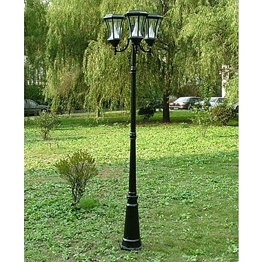 Gama Sonic Victorian Solar 8 Light 90'' Post Lantern Set; Black