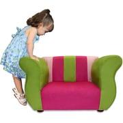 Keet Kid's Fancy Microsuede Chair; Pink / Green