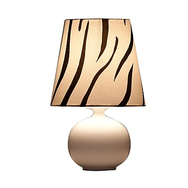 Ziqi Home Vivid Zaida 14'' Table Lamp; Black