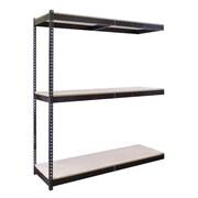 Hallowell Rivetwell Double Boltless 3 Shelf Shelving Unit Add-on; 72'' W x 24'' D
