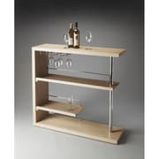 Butler Loft Broadway Modern Bar Shelf; Gray Dawn