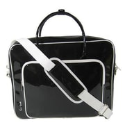 Ice Red Shine Glossy Laptop Briefcase; Black