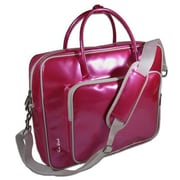 Ice Red Shine Glossy Laptop Briefcase; Pink