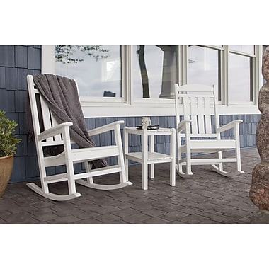 POLYWOOD Presidential 3 Piece Rocker Set; White